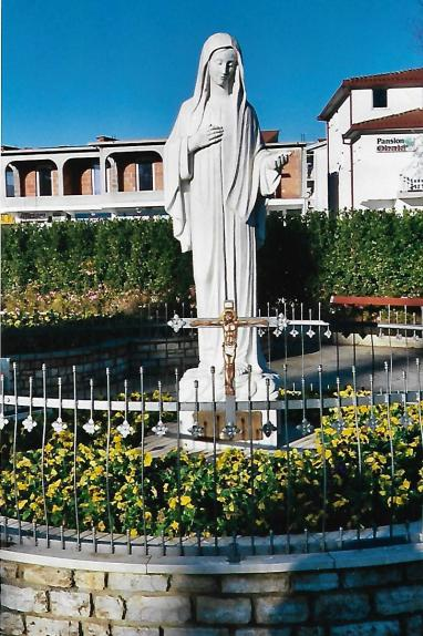 medj our lady in front of church