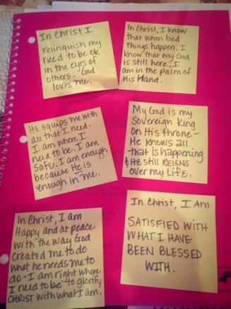 identity in Christ sticky note reminders